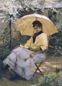 p Albert Edelfelt (Finnish painter, 1884-1905) Woman and Parasol, 1886