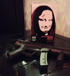Mona Lisa with gun FullSizeRender