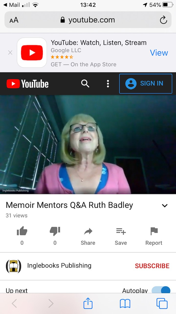 Guest author for Memoir Mentors